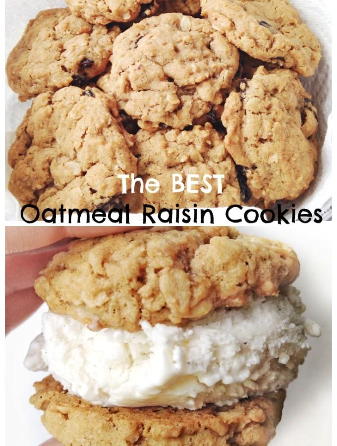 The Best Oatmeal Raisin Cookies