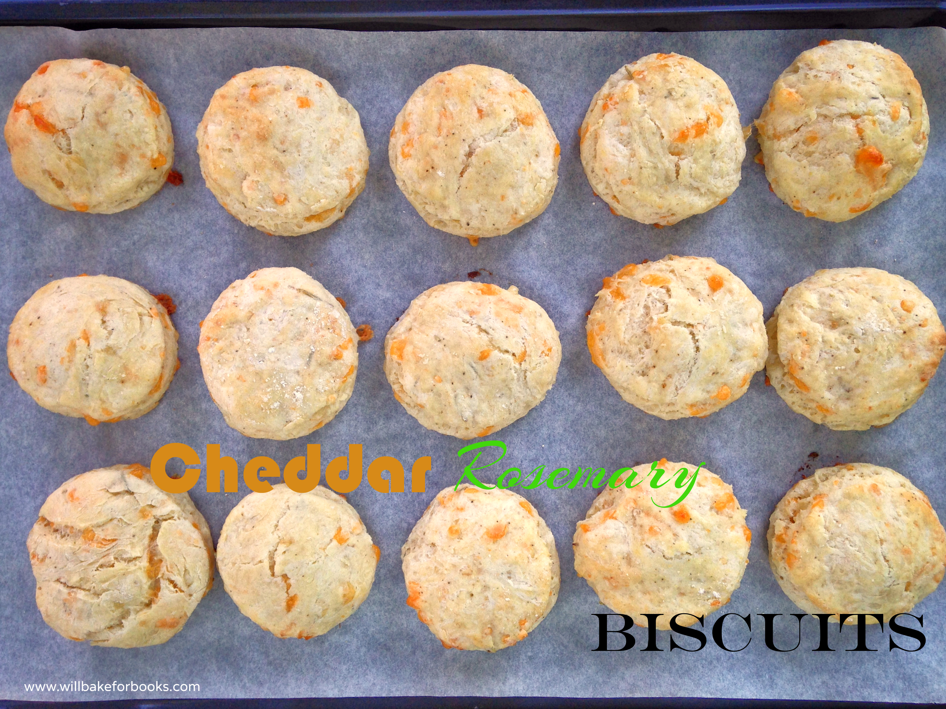 Cheddar Rosemary Biscuits from www.willbakeforbooks.com