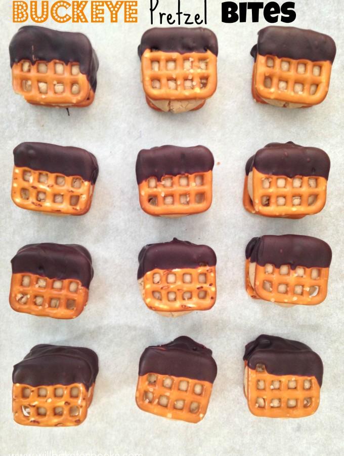 Buckeye Pretzel Bites