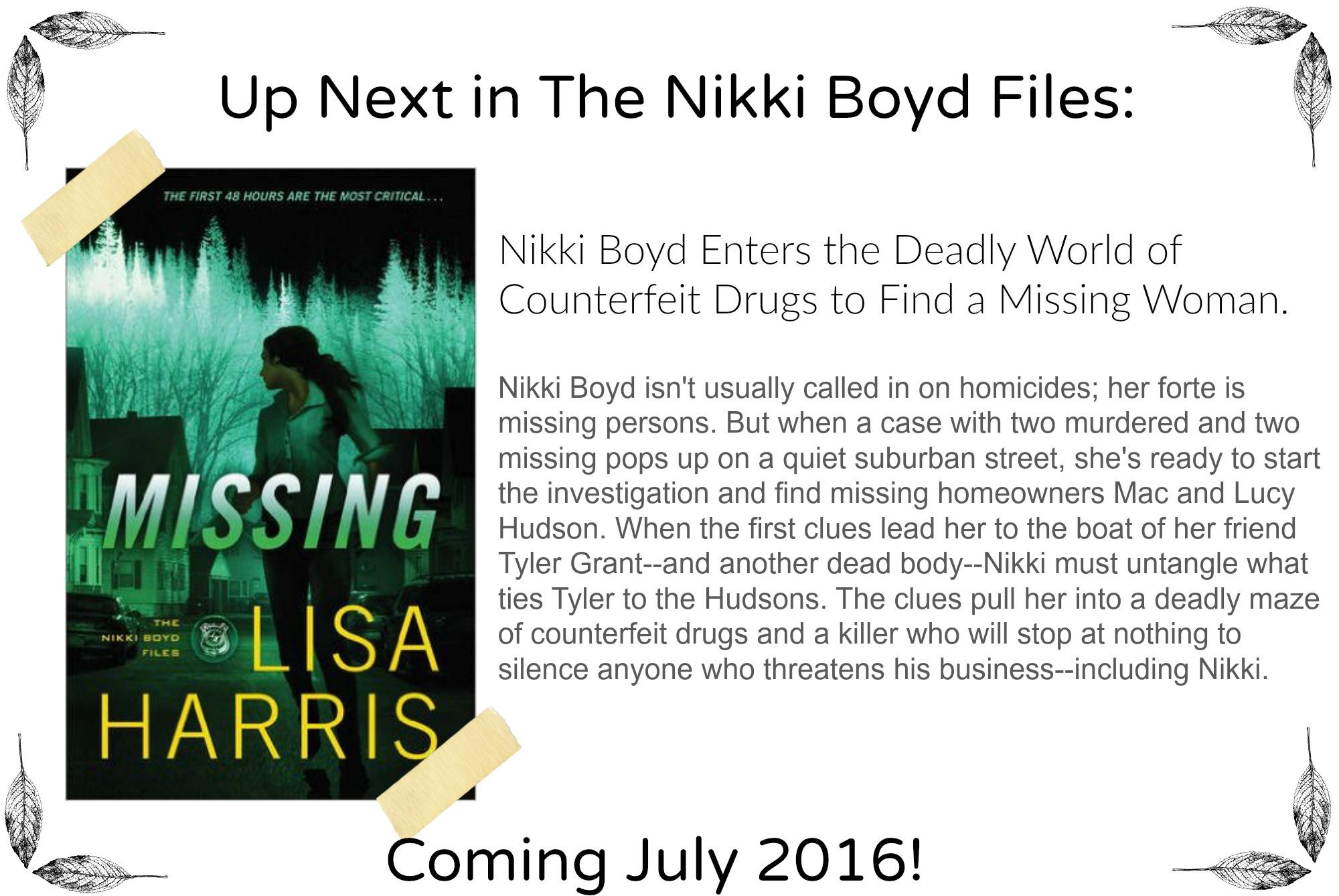 Missing by Lisa Harris | Coming July 2016!