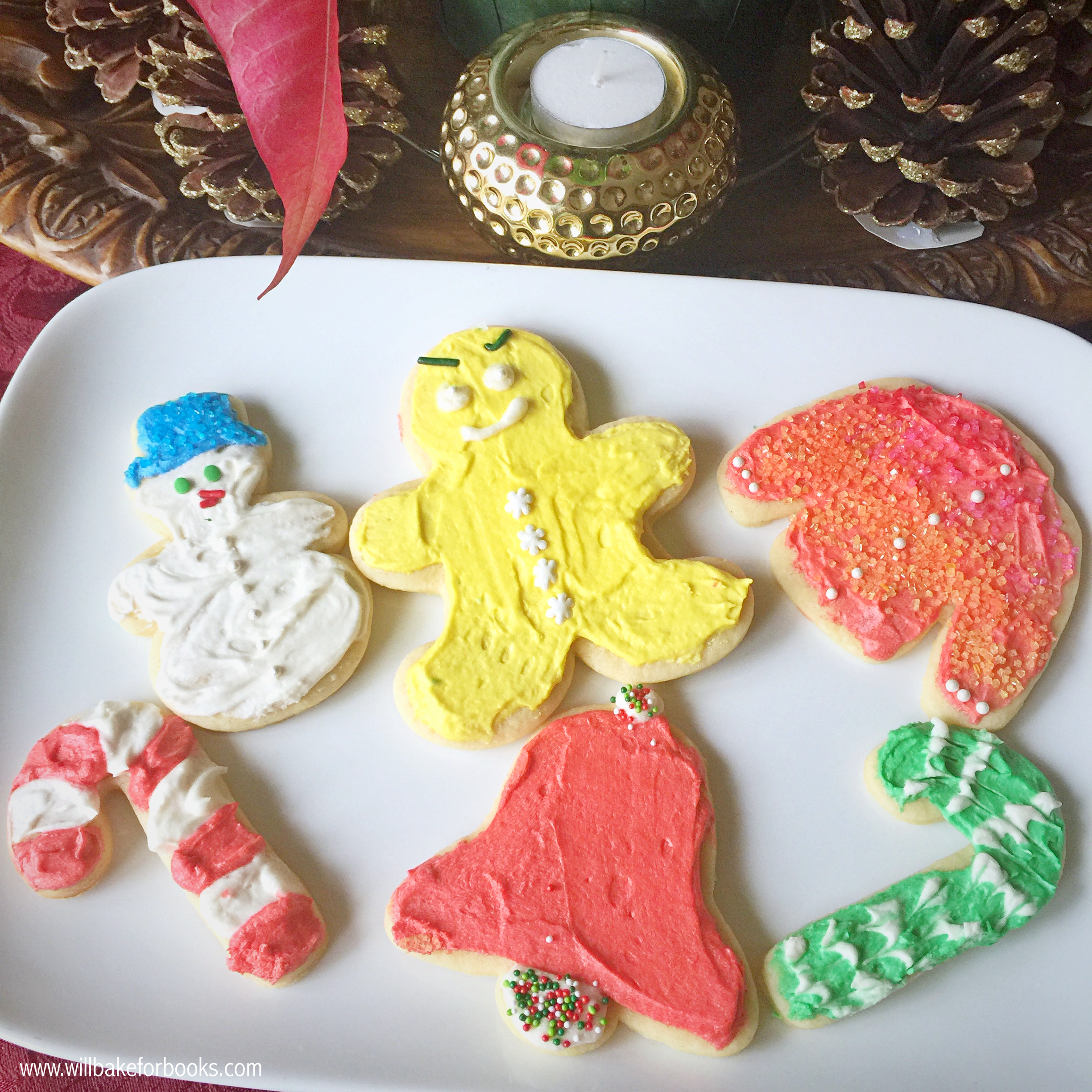 The Best Christmas Sugar Cookies | www.willbakeforbooks.com