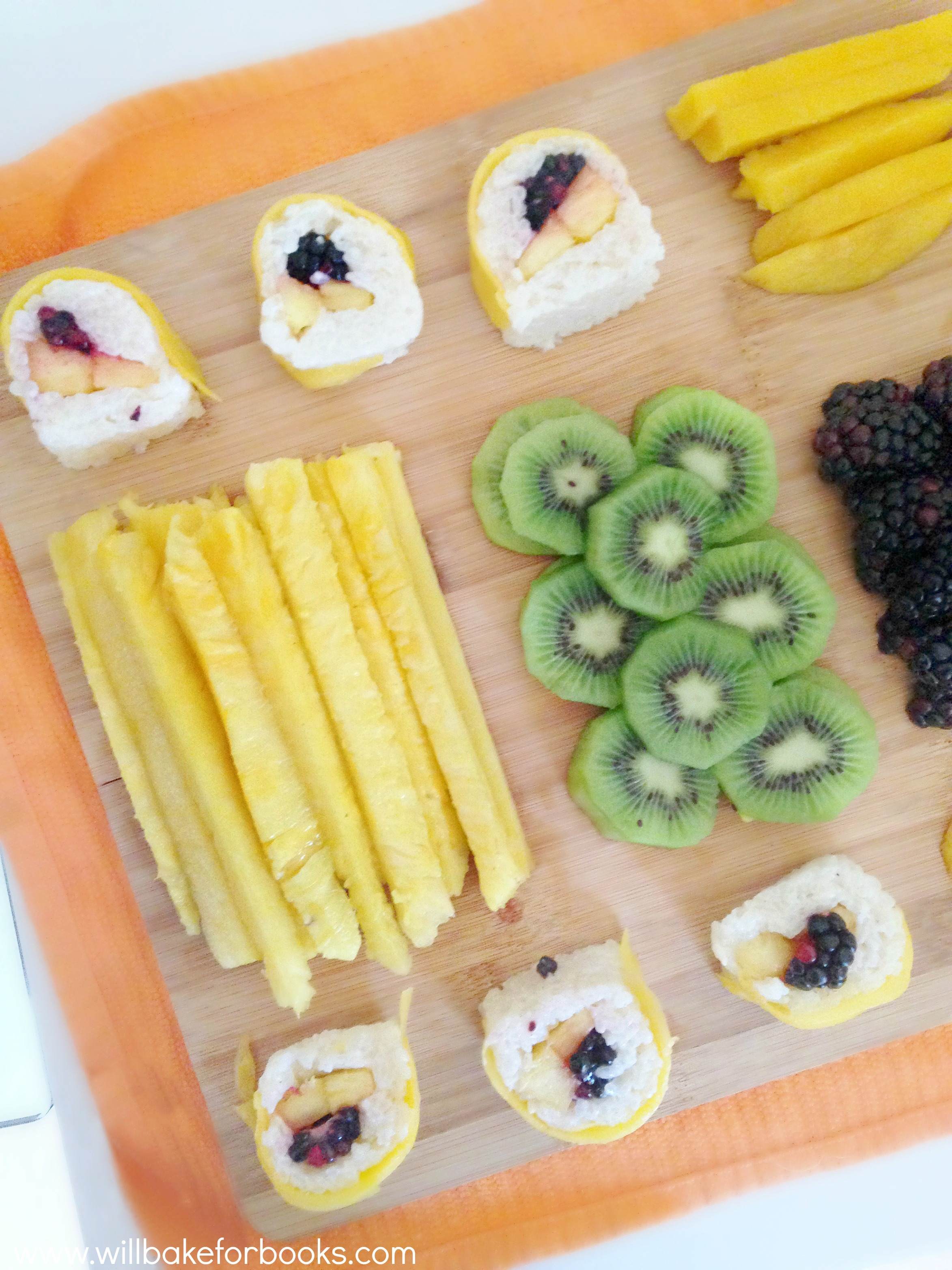 Fruit Sushi on willbakeforbooks.com