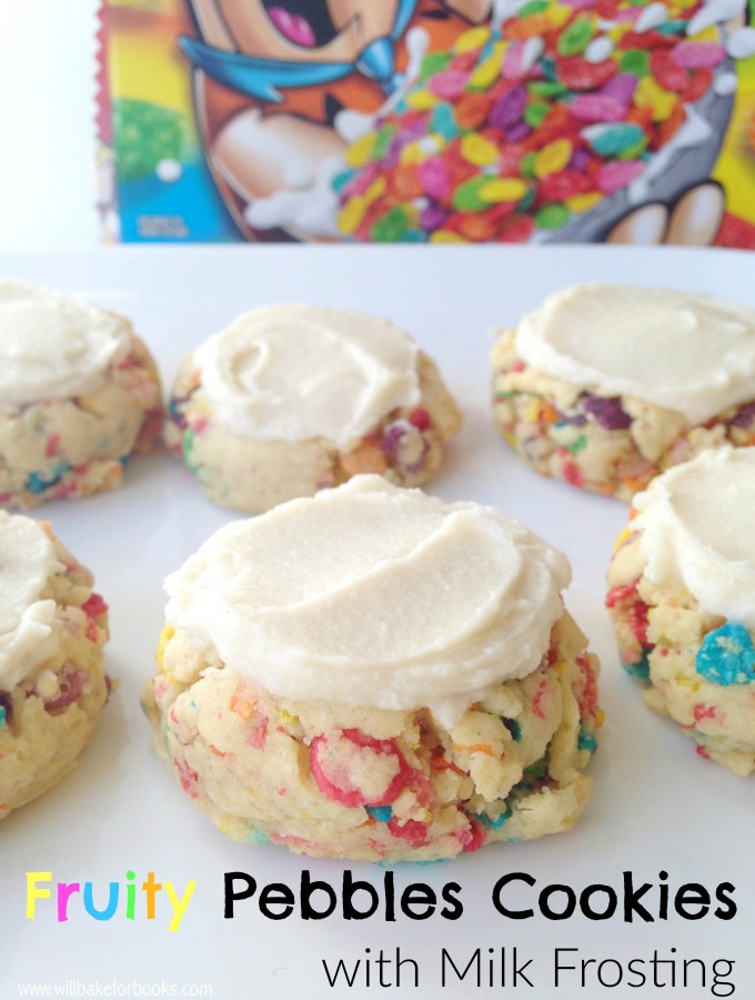 Fruity Pebbles Cookies with Milk Frosting