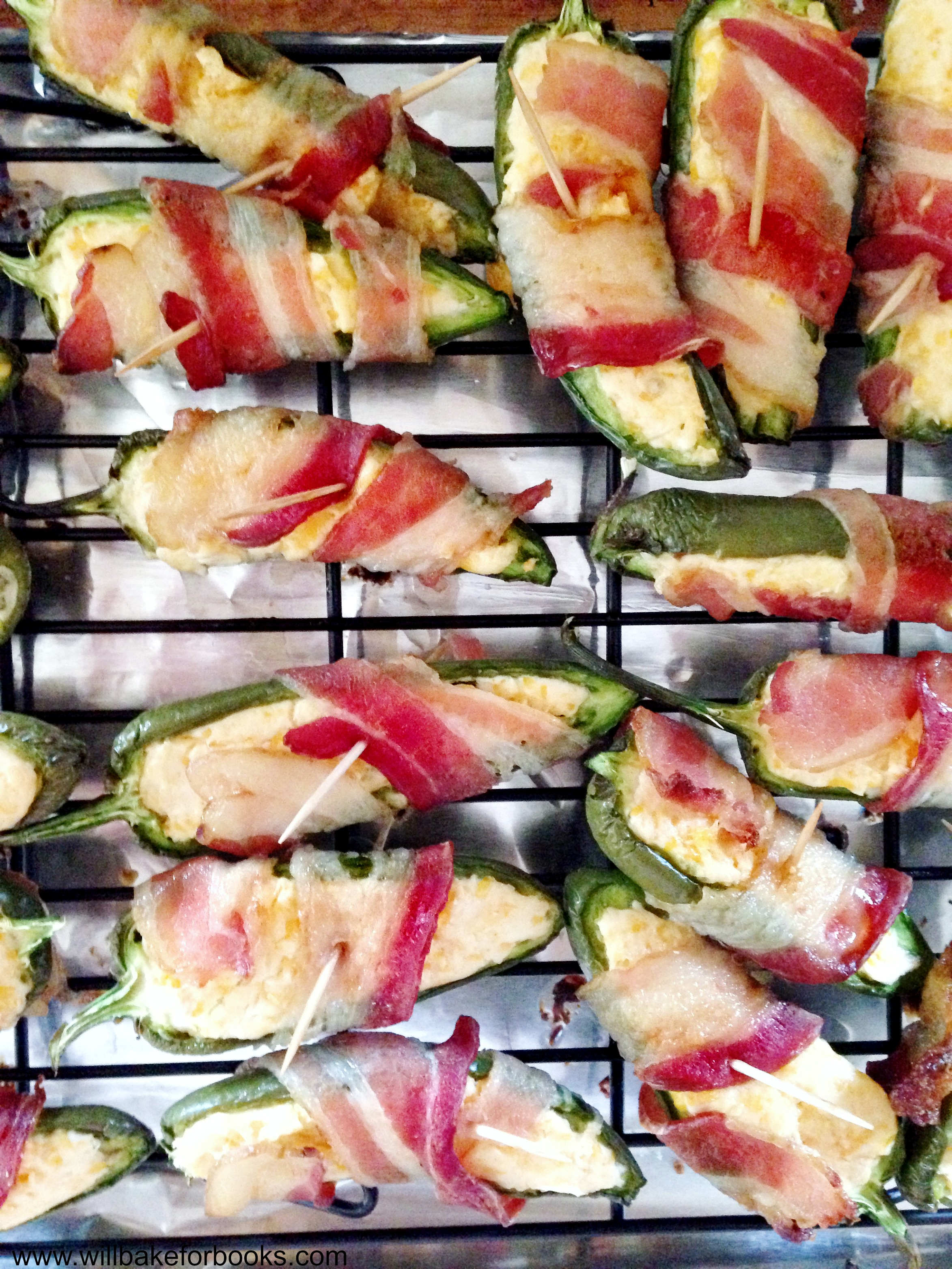 Baked Bacon-Wrapped Jalapeño Poppers - Will Bake for Books