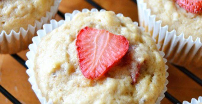 Strawberry Muffins {Vegan}