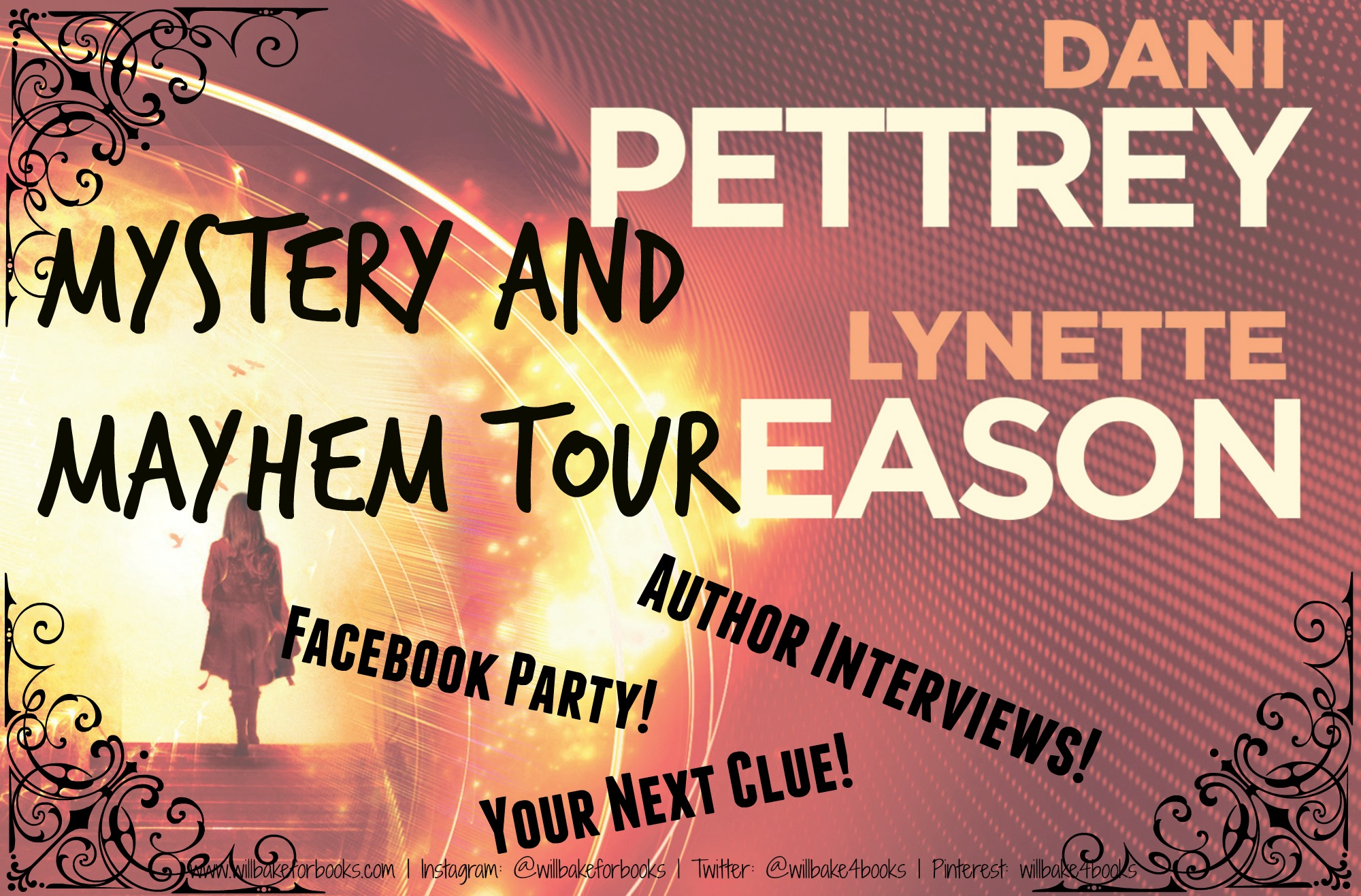 Mystery and Mayhem Tour: Author Interviews with Dani Pettrey and Lynette Eason!