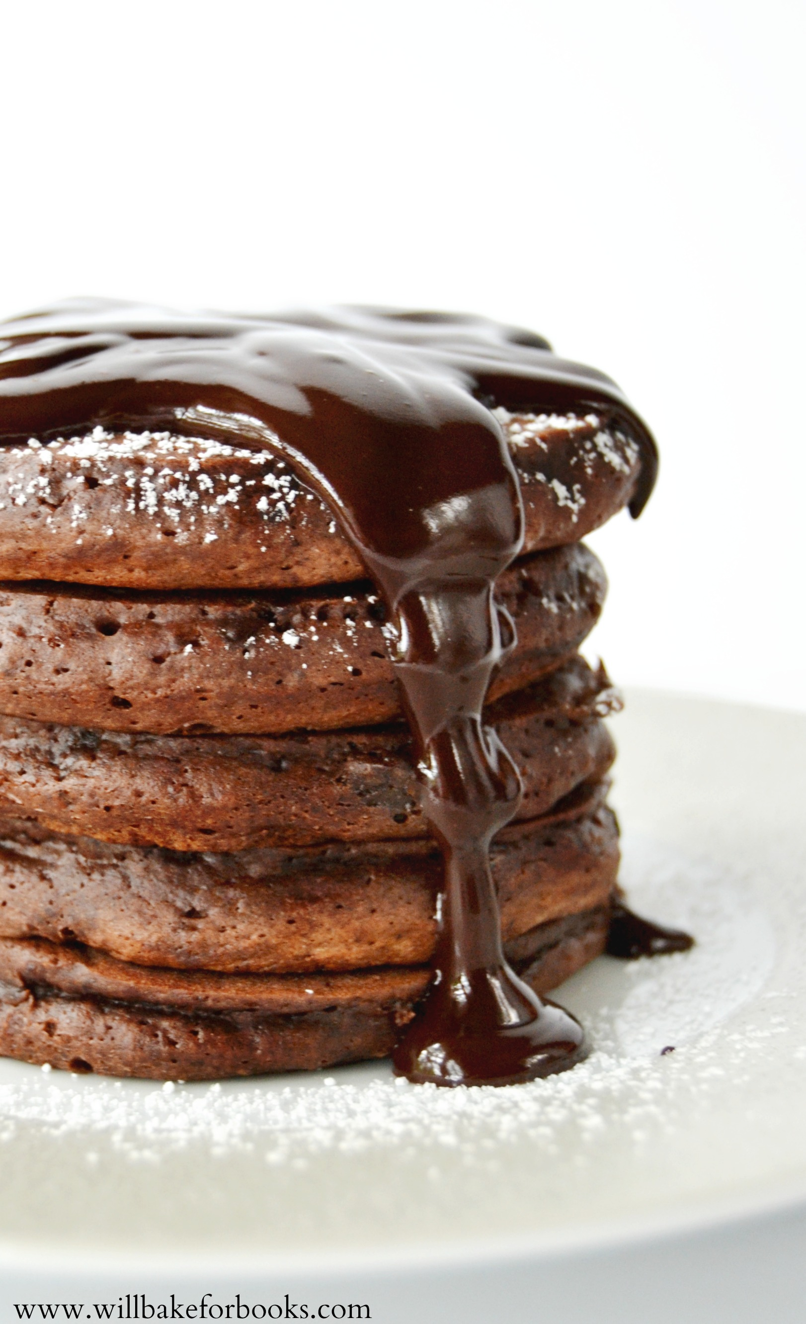 Brownie Pancakes on willbakeforbooks.com