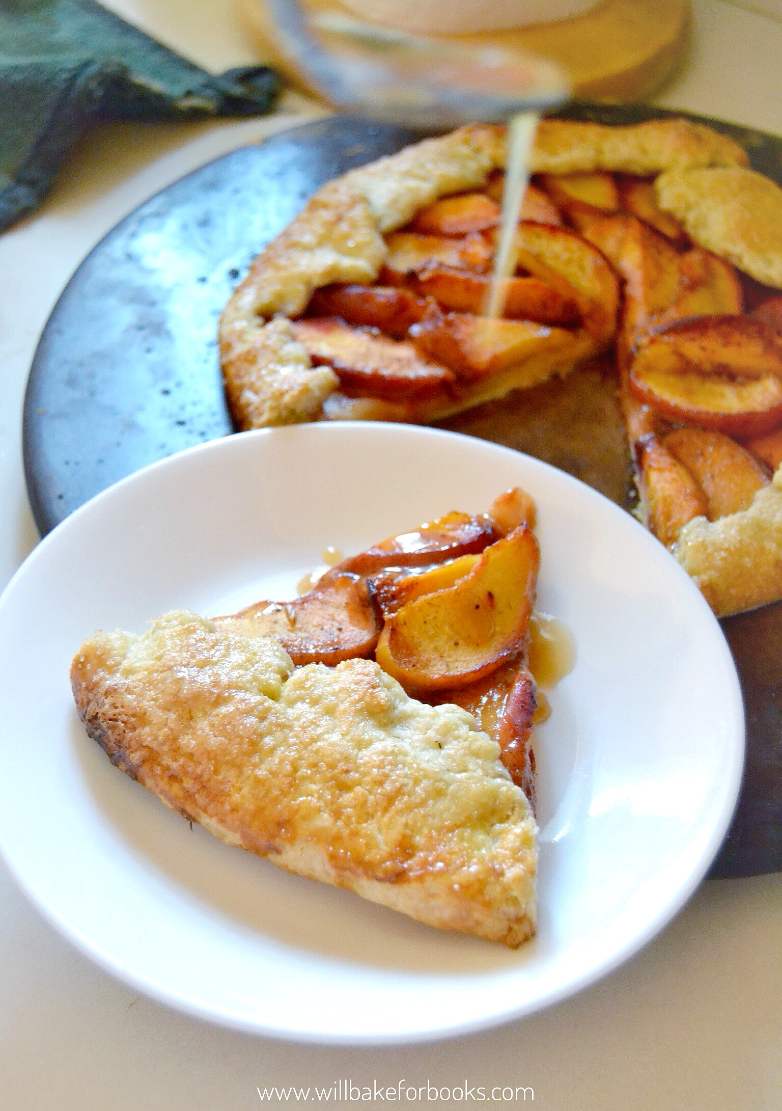 Peach and Blackberry Galette | Recipe on willbakeforbooks.com